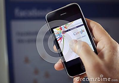 Google Plus vs. Facebook Editorial Photo