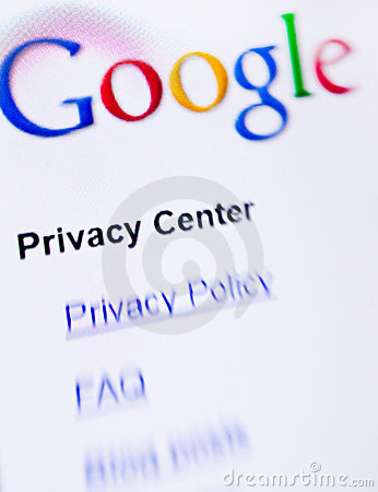Google privacy Editorial Photography