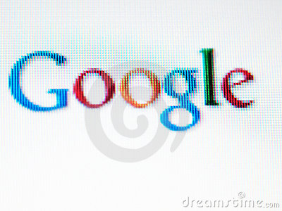 Google screen Editorial Image