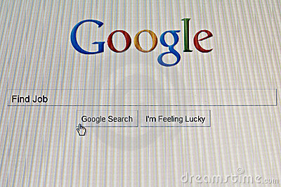 Google search job Editorial Image