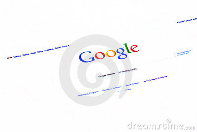 Google searh homepage Editorial Photo