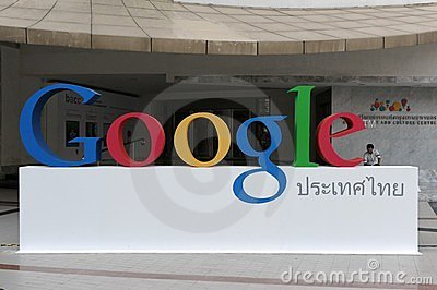 Google Sign Editorial Photo