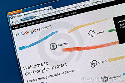 Google+ Sociaal Netwerk Redactionele Stock Afbeelding