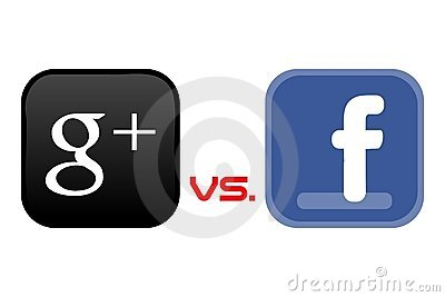 Google+ vs Facebook Editorial Photo