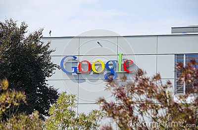 Google Zurich, Schweiz Redaktionell Fotografering för Bildbyråer