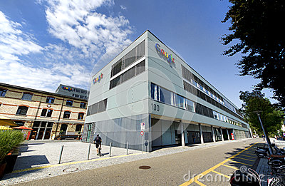 Google Zurigo, Svizzera Fotografia Editoriale