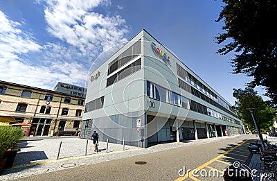 Google Zurique, Suíça Foto Editorial