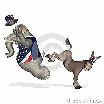 Free GOP - Kicked 1 Stock Photos - 1502093