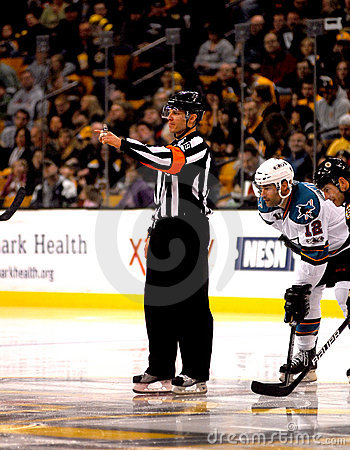 Free Gord Dwyer NHL Referee Royalty Free Stock Photos - 18201768