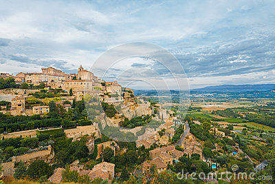 Gordes Provence Hilltop Stone Village Sunset H