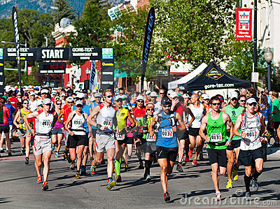 Gore-Tex Trans Rockies Run Start of the 5 day race Editorial Stock Photo