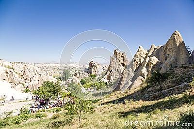 土耳其,卡帕多细亚中世纪修道院复合体,转向在岩石,goreme露天博物长城c30雕刻助力机图片