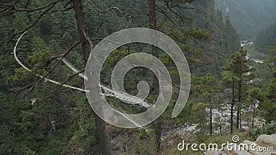 Gorge горы в Гимале акции видеоматериалы