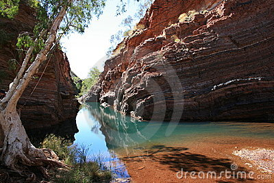 Gorge de Hamersley, stationnement national de Karijini