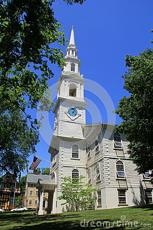 Free Gorgeous Architecture Of 1st Baptist Church, An 18th Century Place Of Worship, Providence,Rhode Island,2015 Stock Photography - 54821182