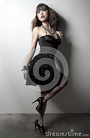 Gorgeous asian woman