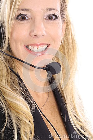 Gorgeous blonde customer service