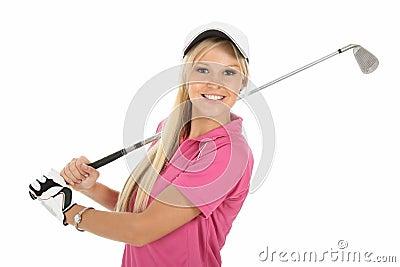 Gorgeous Blonde Golfer Lady