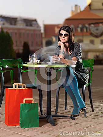 Free Gorgeous Brunette With Sunglasses Royalty Free Stock Image - 30316636