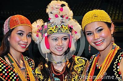Borneo Women Beauties Editorial Image