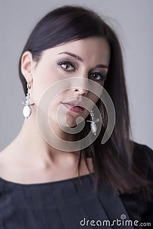 Gorgeous feminine woman in the daylight portrait