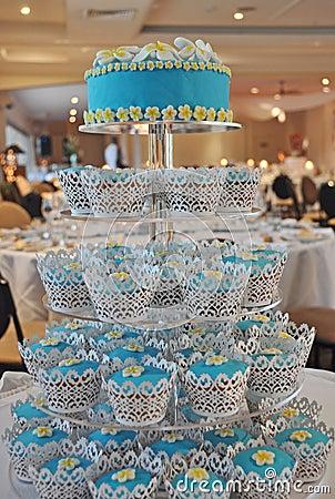 A Gorgeous Frangipani Cupcakes Tiered Wedding Cake