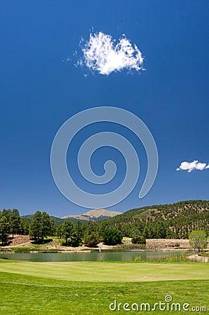 Free Gorgeous Golf Course In Arizona Stock Photos - 5508703