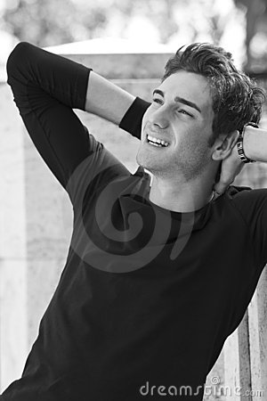 Gorgeous and happy men model shirt