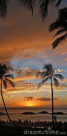 Gorgeous Hawaiian Sunset at Koolina Resort
