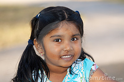 Pleasant Smiling Indian Little Girl Stock Photos Image 20356293 Hairstyles For Men Maxibearus