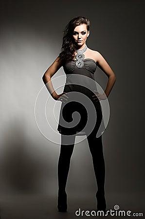 Gorgeous model posing