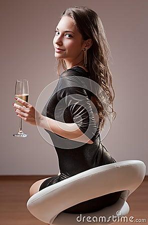 Gorgeous party girl.