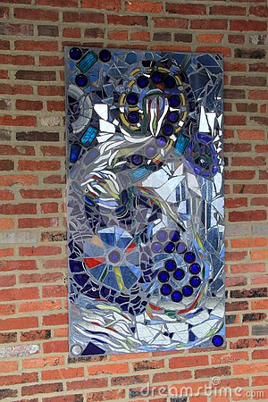 Free Gorgeous Piece Of Art With Colorful Glass In Abstract Design,American Visionary Art Museum, Baltimore, 2017 Stock Images - 92636064