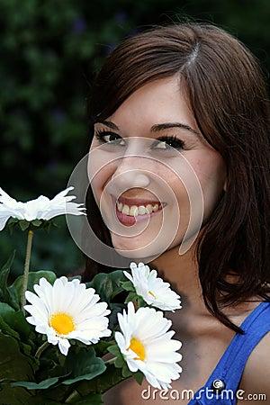 Gorgeous Smiling Brunette Girl