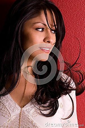 Gorgeous smiling woman.