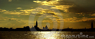 Gorgeous venetian sunset