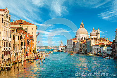 Gorgeous view of the Grand Canal in Venice