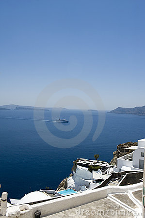 Gorgeous view of romantic Santorini