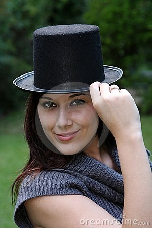 Gorgeous Woman in Black Hat