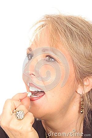 Gorgeous woman with fresh breath