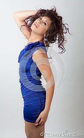 Gorgeous Woman in Mini Dress