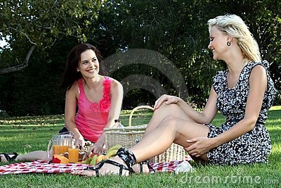 Gorgeous Women  Friends at Picnic