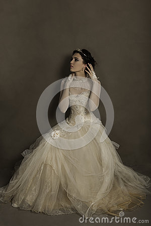 Free Gorgeous Young Woman In Couture Gown Stock Photography - 62668642