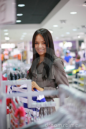 Gorgeous young woman shopping