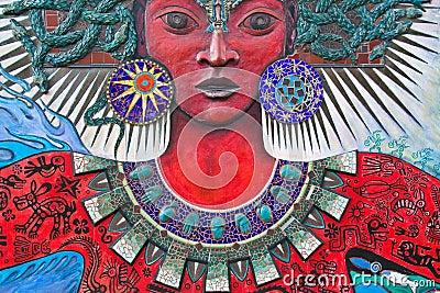 Gorgon-like Woman Street Art