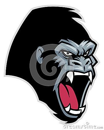 Gorilla vector head - photo#20