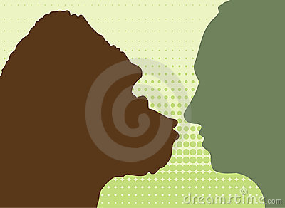 Gorilla & human