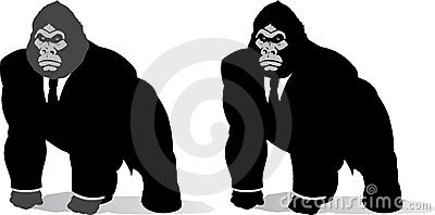 Gorilla in suit