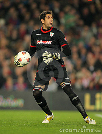 Gorka Iraizoz of Athletic Bilbao Editorial Photo