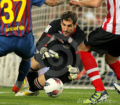 Gorka Iraizoz of Athletic Bilbao Editorial Photography